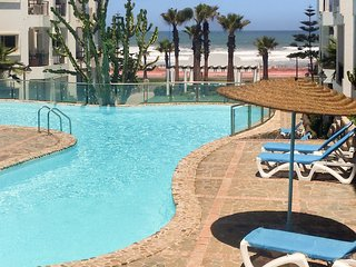 Sunny, 1-bedroom apartment in with shared swimming pools and balcony – 250m from the beach! - Dar Bouazza vacation rentals