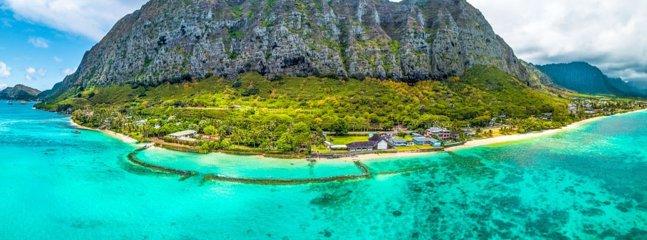 Aerial View - The Royal Hawaiian Estate Main House and Guest Wing - Waimanalo - rentals