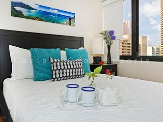 Great Location - Secure Building!  Perfect for Monthly Stays! With Washlet! - Waikiki vacation rentals