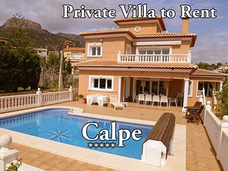 5 Bed 4 bath Villa Calpe Heated pool sleeps 11 VILLA CASA Blanca F/B - Calpe vacation rentals