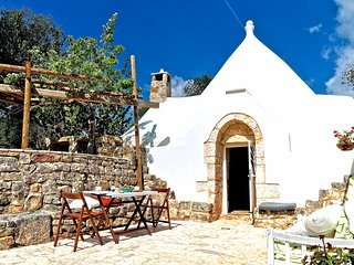 Stunning trullo villa in Apulia, near Brindisi, w/ 1 bedroom, huge, fenced garden and terrace - Ceglie Messapica vacation rentals