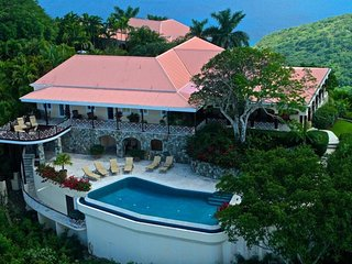 Luxury 5 bedroom Tortola, BVI villa. Private 8-acre hilltop estate with 300-degree bird's-eye view! - Belmont vacation rentals