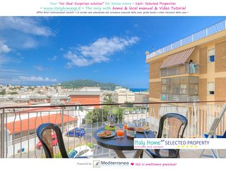 Sea View Holiday Home x 5+2p ♥Large Balcony 3Bedrs 2Bathrs ☼Wi-Fi☼Parking☼Beach - Gaeta vacation rentals