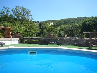 Pretty stone cottage, woodland view, garden & heated pool - Saint-Benoit vacation rentals