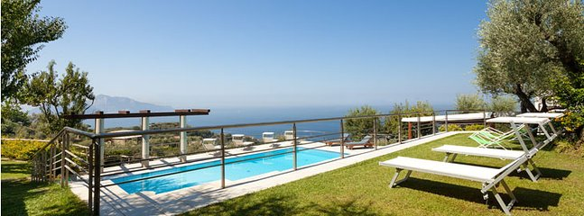 swimming pool with sea view - le rose - Massa Lubrense - rentals