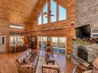 Luxury mountain home with private creek and beautiful views perfect for family. - Waynesville vacation rentals