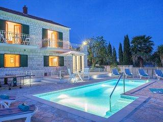 Family Villa Vjeka with private pool and sea views - Sumartin vacation rentals