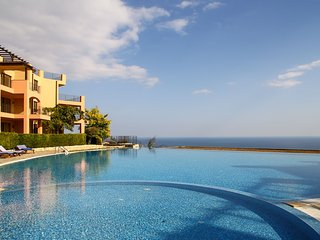 Exclusive apt with pool, big balcony & sea view - Topola vacation rentals