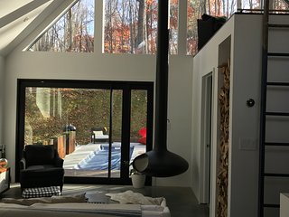 Modern cabin in the woods + year round heated pool - Red Hook vacation rentals