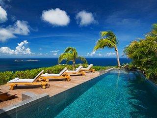 Modern Hilltop St Barts Luxury Villa with Panoramic Ocean Views - Anse de Lorient vacation rentals