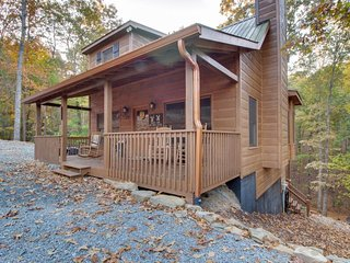 Dog-friendly forest cabin with a hot tub, shared pool, game room, two decks - Ellijay vacation rentals