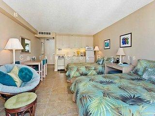 Heart of Waikiki studio with 2 beds, AC, FREE parking and WiFi!  Sleeps 3. - Waikiki vacation rentals