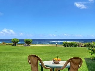 Pono Kai B109, Sunrise, Moonrise & Surf from this Oceanfront Condo - Kapaa vacation rentals
