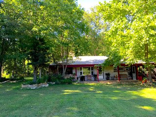 Private Creekside cabin, hot tub, fire ring, farmstay, fishing, canoe or kayak - Branson vacation rentals