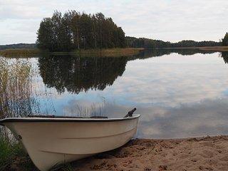 Stugan EVA har egen gårdsplan, barnvänlig sandstrand och roddbåt - Kimito vacation rentals