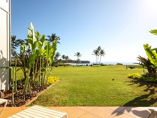 Free midsize car with Poipu Sands 513 Ocean front ground floor 1 bd - Poipu vacation rentals