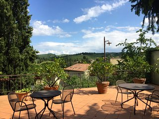 Chianti Spacious Apartment for Family + big garden and pool - San Donato in Poggio vacation rentals