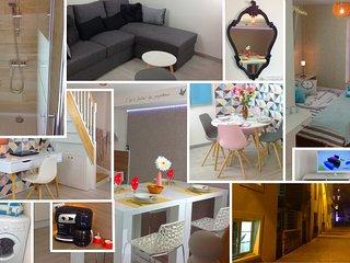 Triplex bel appartement de 50m2 sur trois niveau - Caen vacation rentals