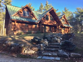 17 Acres of Privacy! Luxury Log Home in Eaton - Center Conway vacation rentals
