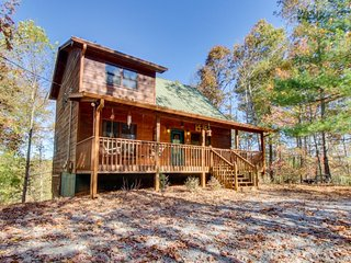 Rustic and romantic w/ hot tub, shared pool, mountain view, porch & large deck - Ellijay vacation rentals