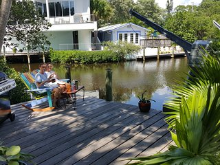 Canal Front 5 BR house w/2 separate units. Walk to Beach. 1.5mi to village - Sarasota vacation rentals