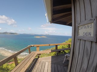 Captain's Cabin~Private 1BR, Fabulous Views, Quiet, funky, Outdoor Shower, Decks - Coral Bay vacation rentals