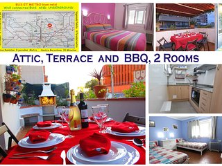Penthouse, Terrace & BBQ, Park Güell, Bus and Metro  FLIP - Barcelona vacation rentals