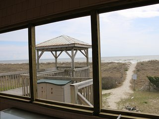 Po Boy OceanFront Home - Wifi*Screened Porch*Gazebo W/Porch Swing*Ocean Kayak - Oak Island vacation rentals