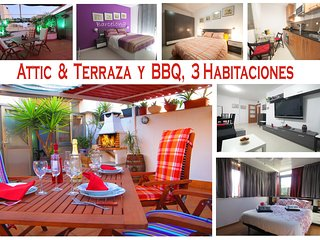 Penthouse apartment, 3 bedrooms, Terrace and BBQ. RF - Viladecans vacation rentals