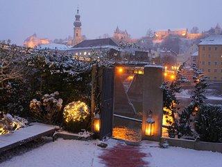 Historisches Färberhaus aus dem 18.Jahrhundert mit Blick zur Burg - Burghausen (Salzach) vacation rentals