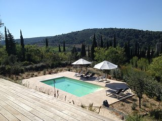 Audelà, wonderful villa with pool hidden among cypress and olive trees. - Lagrasse vacation rentals