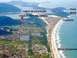 -> sobrado na lagoa com acesso para joaquina com linda trilha parque ecológico - Lagoa da Conceicao vacation rentals