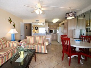 Under 21? No Problem! 12th Floor beachfront 1 Bedroom, 1.5 Bath at the Summit. 50 inch Flatscreen TV with FREE BEACH CHAIRS! - Thomas Drive vacation rentals