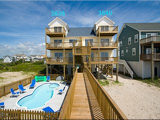 Oceanfront with pool - North Topsail Beach vacation rentals