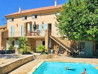 Domaine des Pradines holiday home in France with private pool sleeps 10 - Saint-Andre-de-Roquelongue vacation rentals