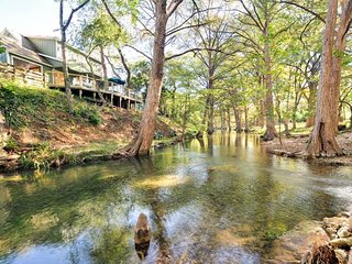 Features an Expansive Shaded Back Deck w/Stairs Right Down To Cypress Creek! - Wimberley vacation rentals