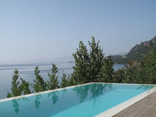 STUNNING LUXURY BEACHFRONT VILLA WITH AMAZING VIEWS OVER THE IONIAN SEA - Paleros vacation rentals