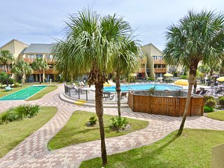Pool side - Walk  on to the beach - Largo Mar #120 - Panama City Beach vacation rentals