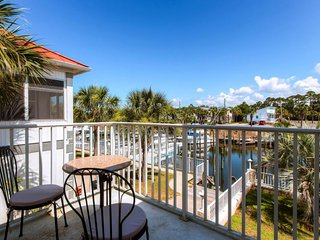 Townhouse w/canal views, private dock, shared pool access - walk to beach! - Mexico Beach vacation rentals