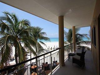 Stunning spacious 4 bedroom beachfront condo (EFS208) - Playa del Carmen vacation rentals