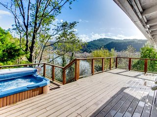 Spacious dog-friendly home on the Rogue River w/private hot tub & glorious views - Gold Beach vacation rentals