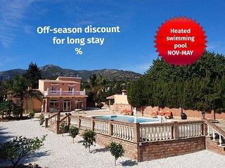 Villa with private pool, sea view, A/C, WiFi, BBQ - Malaga vacation rentals