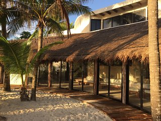 Spacious Oceanfront home at the end of Tulum beach...secluded yet accessible! - Tulum vacation rentals