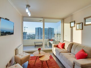 Bright Condo with Water Views and Game Room - Concon vacation rentals
