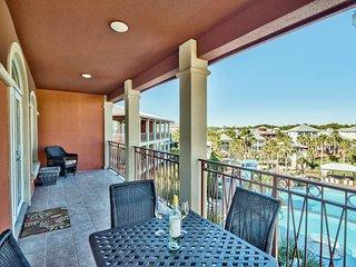 Condo overlooking Lagoon pool at the Villas at Seacrest, short walk to beach - The Blue Lagoon - Seacrest Beach vacation rentals