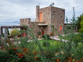 Villa Petra :Traditional luxury villa with an outstanding view to the sea - Pachia Rachi vacation rentals