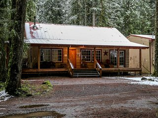 Charming dog-friendly cabin w/private hot tub, deck & bikes! Walk to the river! - Rhododendron vacation rentals