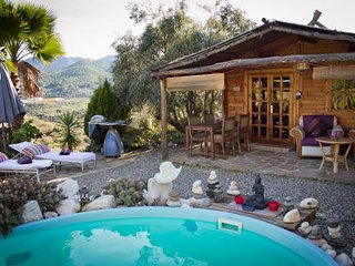 Wooden Cabin with separate Apartment leading onto private pool - Monda vacation rentals