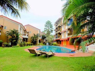 Spacious Apartment with Pool in Candolim  :CM008 - Candolim vacation rentals