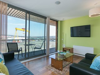Titanic Qtr 10th Floor Apt Sleeps 6 WIFI PARKING - Belfast vacation rentals